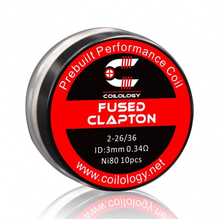 Pack 10 Quad-Core Fused Clapton Coilology - 0.28 ohm